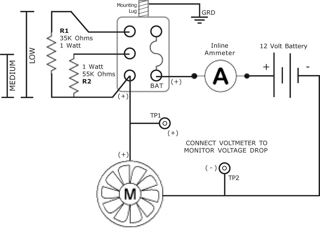 HeaterSchematic12vDCC making your vehicle native 12 volts! table fan motor wiring diagram at fashall.co