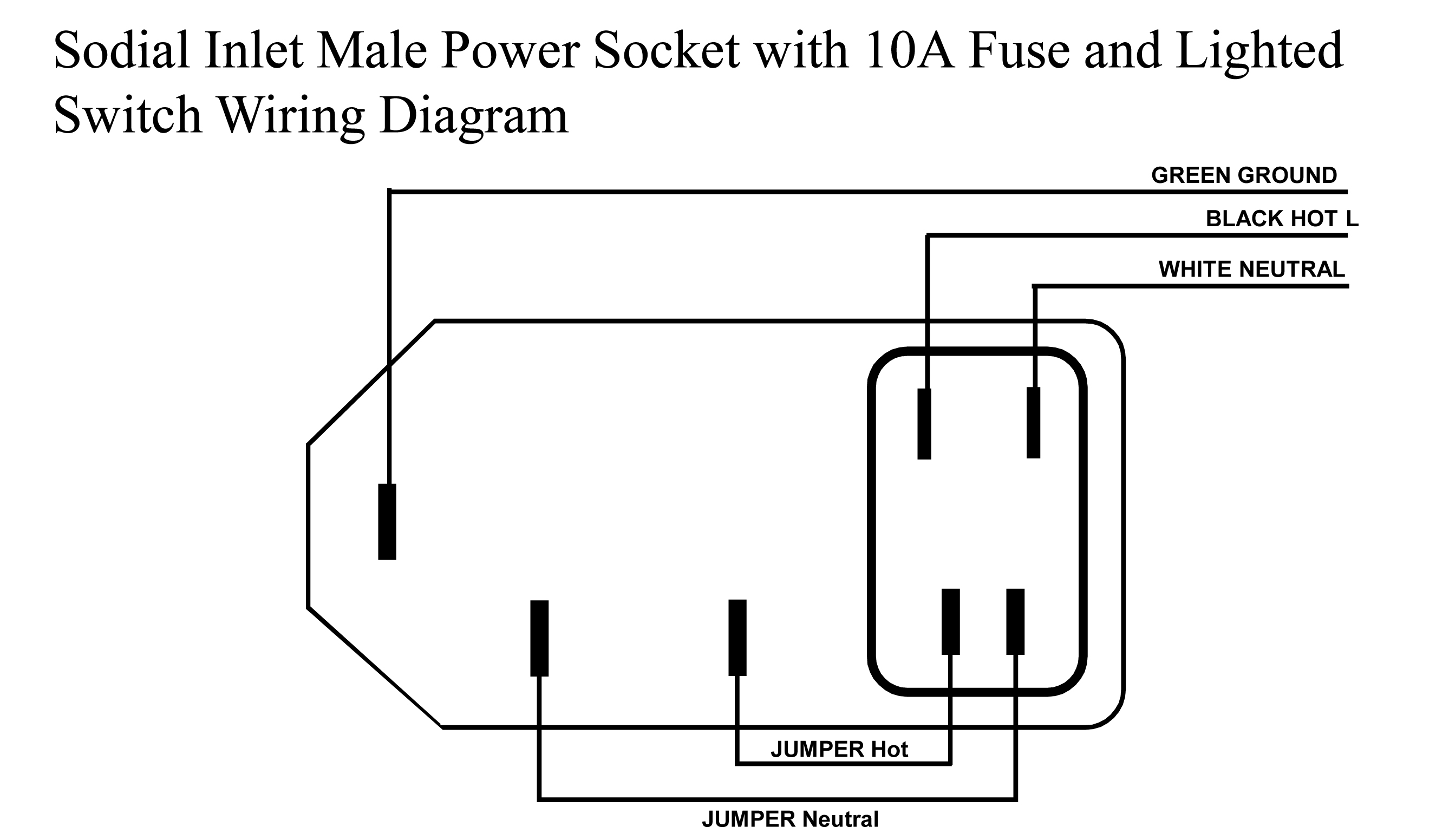 Portapower Ac Lighted Switch Wiring The First Of Two Diagrams Is How To Hook Up Sodial Connector We Will Wire It So When You Flip Provides Power And