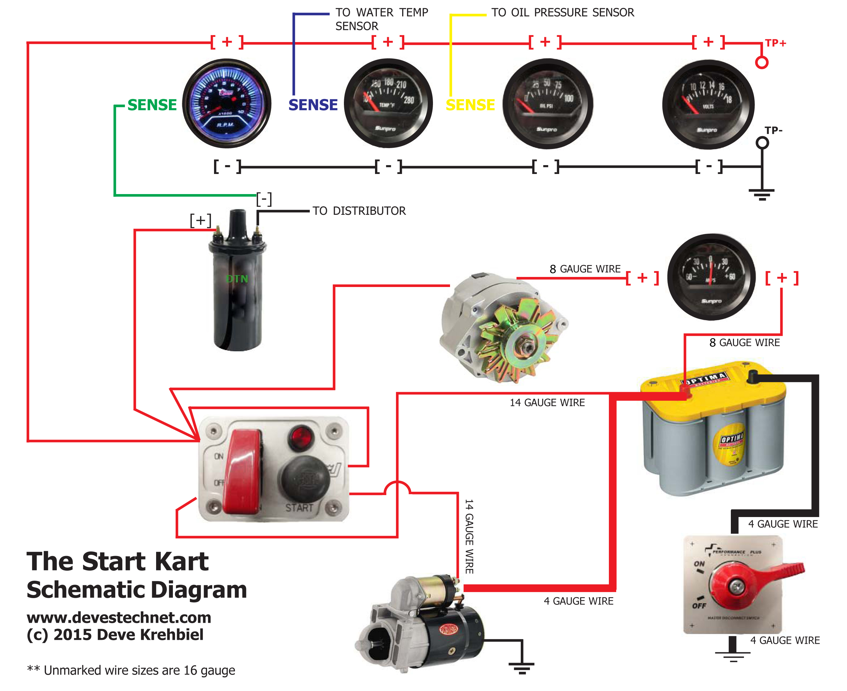 SrtKrtSchematic start kart plans electric temperature gauge wiring diagram at bakdesigns.co