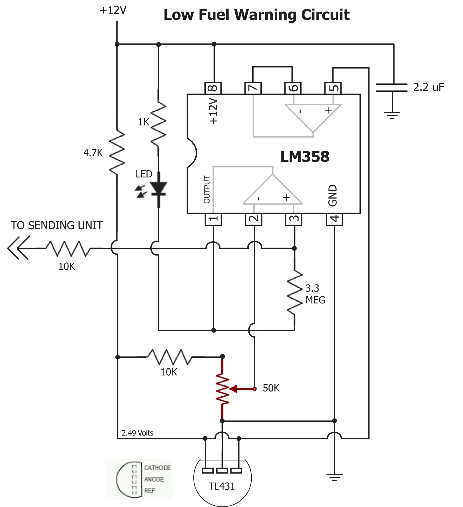 Critical Systems Warning Circuit