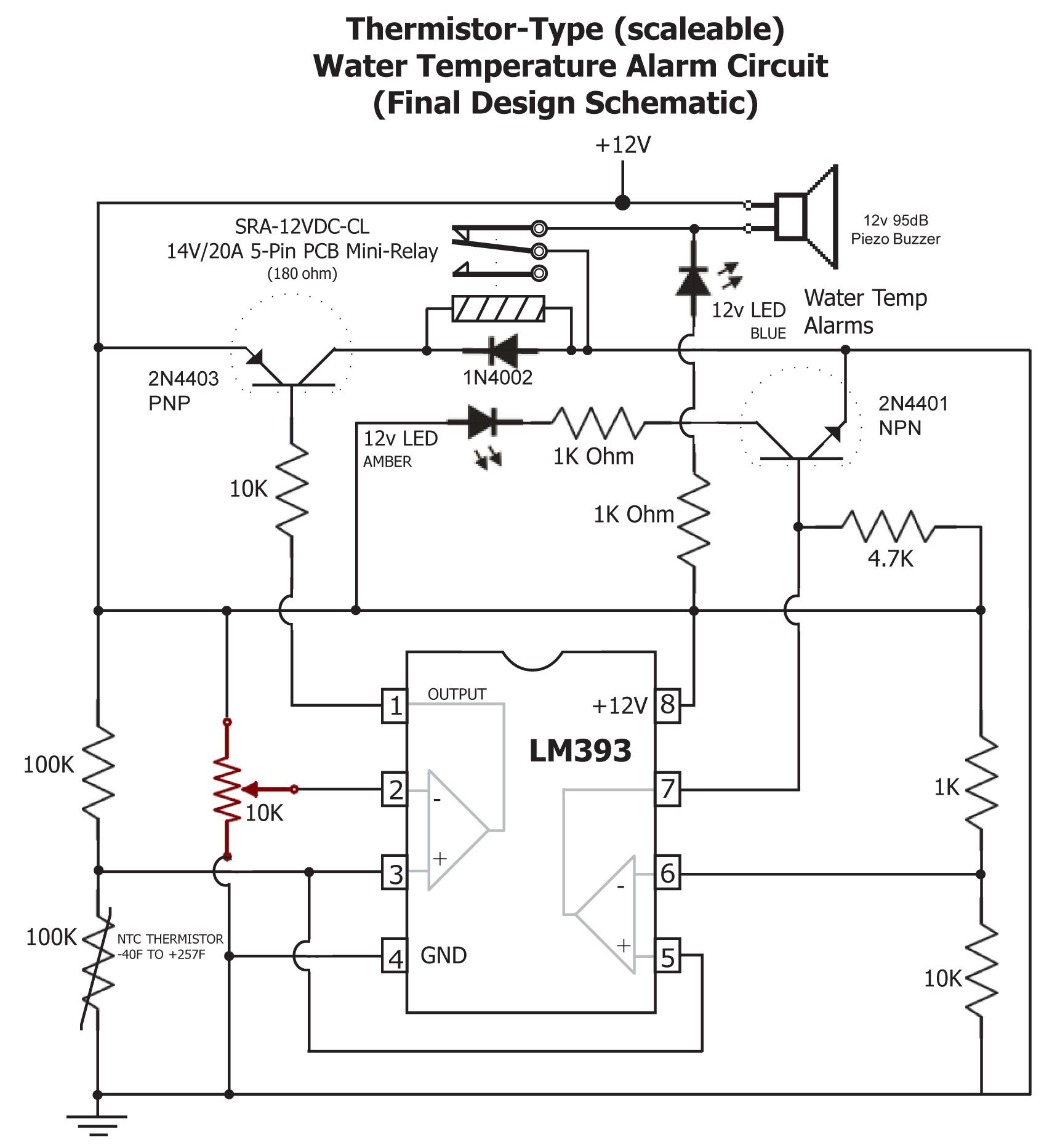 critical systems warning circuit rh devestechnet com Simple Thermistor Circuit Diagram Fujitsu Thermistor Wiring-Diagram