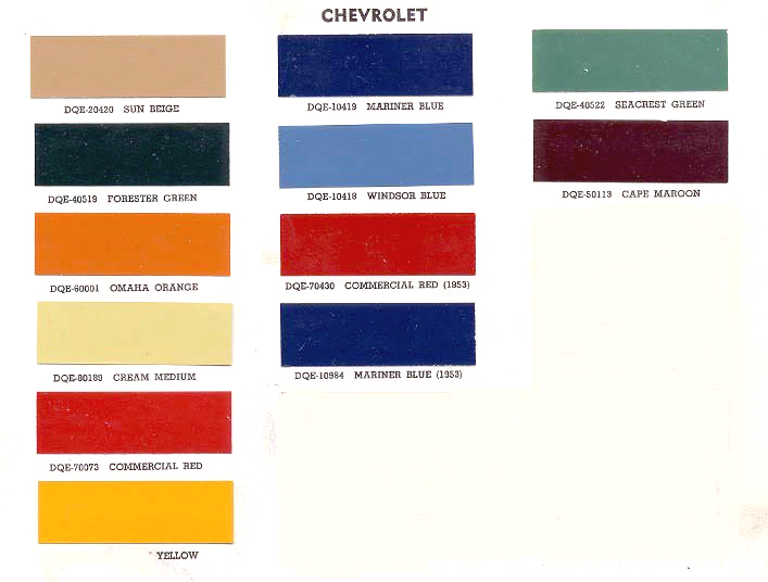 Vermilion Chevrolet >> 1966 Chevy C10 Color Chart.html | Autos Post